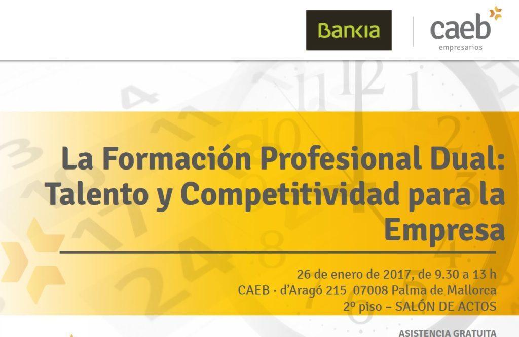 """Participamos en la jornada de CAEB """"La formación profesional dual: talento y competitividad para la empresa"""""""