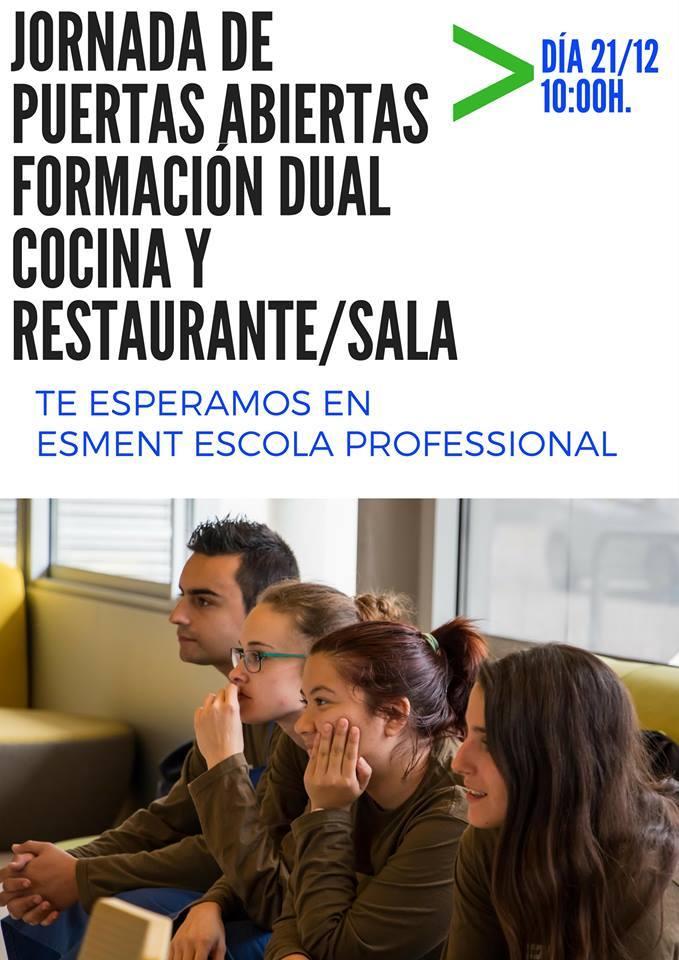 Jornada de puertas abiertas Formación Dual Cocina & Restaurante y bar